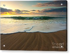 Kalalau Beach Sunset Acrylic Print by Buck Forester