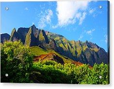 Kalalau Mountains Morning Kauai Acrylic Print by Kevin Smith