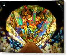 Kaleidoscope Colors And Designs Acrylic Print by Cindy Wright