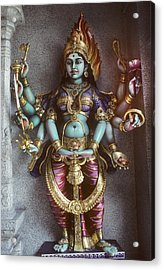 Kali Statue In Singapore Acrylic Print by Carl Purcell