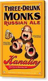 Kanalin Three Drunk Monks Acrylic Print by John OBrien