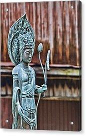 Kannon Bodhisattva Acrylic Print by Karen Walzer