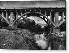 Kansas Archway Bridge Acrylic Print by Thomas Zimmerman