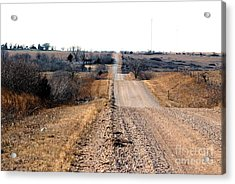 Kansas Gravel Road Acrylic Print