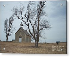 Kansas Stone Church Acrylic Print