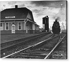 Kansas Train Station Acrylic Print by Myron Wood and Photo Researchers