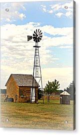 Kansas Windmill 1 Acrylic Print by Marty Koch