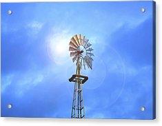 Kansas Windmill In The Sun Acrylic Print