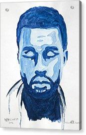 Kanye West Acrylic Print by Michael Ringwalt