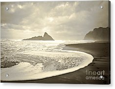 Karekare Beach In New Zealand Acrylic Print