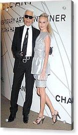 Karl Lagerfeld, Kate Bosworth Wearing Acrylic Print by Everett