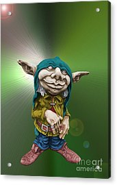 Karlchen The Goblin Acrylic Print by Sandra Beikirch