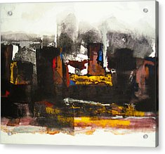 Kasbah Acrylic Print by Mohamed KHASSIF