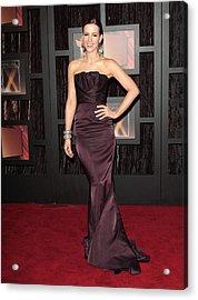 Kate Beckinsale Wearing A J. Mendel Acrylic Print by Everett