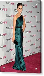 Kate Beckinsale Wearing An Andrew Gn Acrylic Print by Everett
