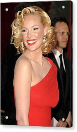Katherine Heigl At Arrivals For Red Acrylic Print by Everett