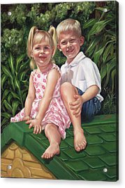 Acrylic Print featuring the painting Katie And Mitchell by Nancy Tilles