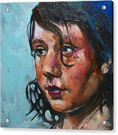 Katie Acrylic Print by Sheila Tajima