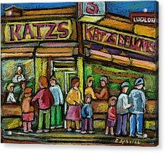 Katz's Houston Street Deli Acrylic Print by Carole Spandau
