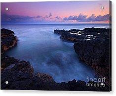 Kauai  Pastel Tides Acrylic Print by Mike  Dawson