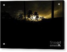 Kauai Storm Sunset Acrylic Print