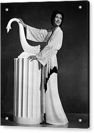 Kay Francis Modeling White-crepe Acrylic Print by Everett