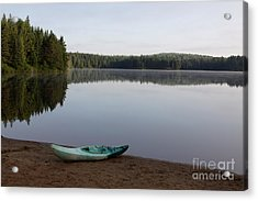 Kayak On Pog Lake Acrylic Print by Chris Hill