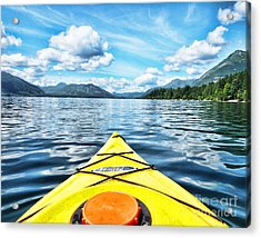 Kayaking In Bc Acrylic Print