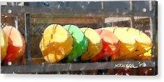 Kayaks In Racks Acrylic Print
