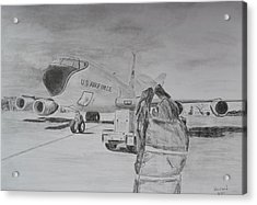Kc-135 Study Acrylic Print by Brian Hustead