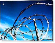 Keep Out Acrylic Print by Wendy White