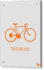 Keep The Wheels Turning Acrylic Print