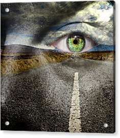 Keep Your Eyes On The Road Acrylic Print by Semmick Photo