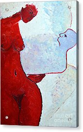 Keeping Her Guardian Angel In Her Hand Acrylic Print by Ana Maria Edulescu