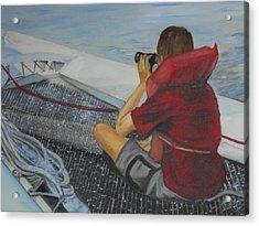 Keeping Watch Acrylic Print by Joyce Reid