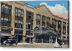 Keith Albee Theatre In Flushing Queens N Y In 1934 Acrylic Print by Dwight Goss
