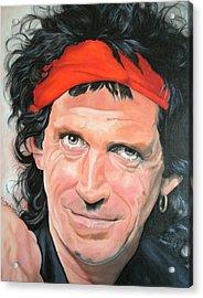 Keith Richards Acrylic Print by Timothe Winstead