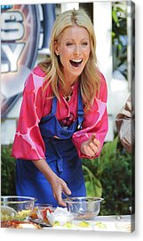 Kelly Ripa, Hosts The Live With Regis Acrylic Print by Everett