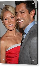 Kelly Ripa, Mark Consuelos At Arrivals Acrylic Print by Everett