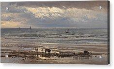 Kelp Gatherers Acrylic Print by Henry Moore