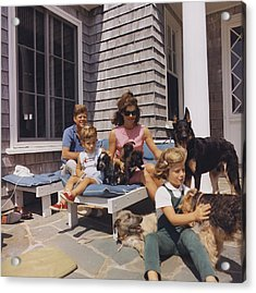 Kennedy Family And Their Many Dogs Acrylic Print by Everett