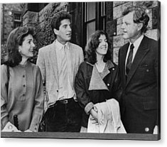 Kennedy Family. From Left  Former First Acrylic Print by Everett