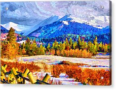 Acrylic Print featuring the digital art Kenosha Pass by Brian Davis