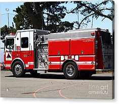 Kensington Fire District Fire Engine . 7d15854 Acrylic Print by Wingsdomain Art and Photography