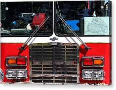 Kensington Fire District Fire Engine . 7d15861 Acrylic Print by Wingsdomain Art and Photography
