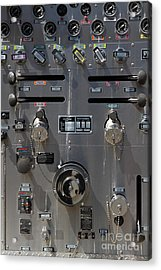 Kensington Fire District Fire Engine Control Panel . 7d15857 Acrylic Print by Wingsdomain Art and Photography