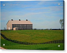 Kentucky Barn Acrylic Print by Amee Cave
