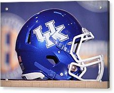 Kentucky Wildcats Football Helmet Acrylic Print by Icon Sports Media