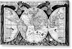 Keplers World Map, Tabulae Acrylic Print by Science Source