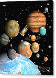 Kepler's Worlds Acrylic Print by Lynette Cook